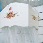 Fehér festett baldachin - EraDekor