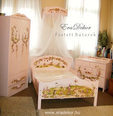 EraDekor - egyedi festett gyerekszoba bútorok