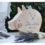 Kreatív pénzgyűjtő vintage esküvőre – óriás malacpersely nászajándékba
