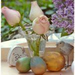 Antikolt húsvéti tojások vintage hangulatban